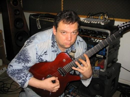 Portrait of Guitarist Denis Taaffe
