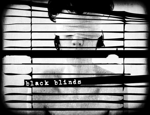 Portrait of Black Blinds