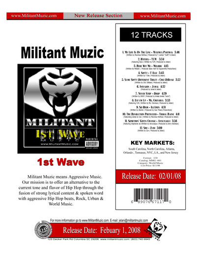 Untitled image for Miltant Muzic Records