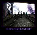 Portrait of clocktower snipers