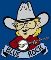 Portrait of Taylor Farley and Blue Rock