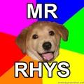 Portrait of Mr Rhys
